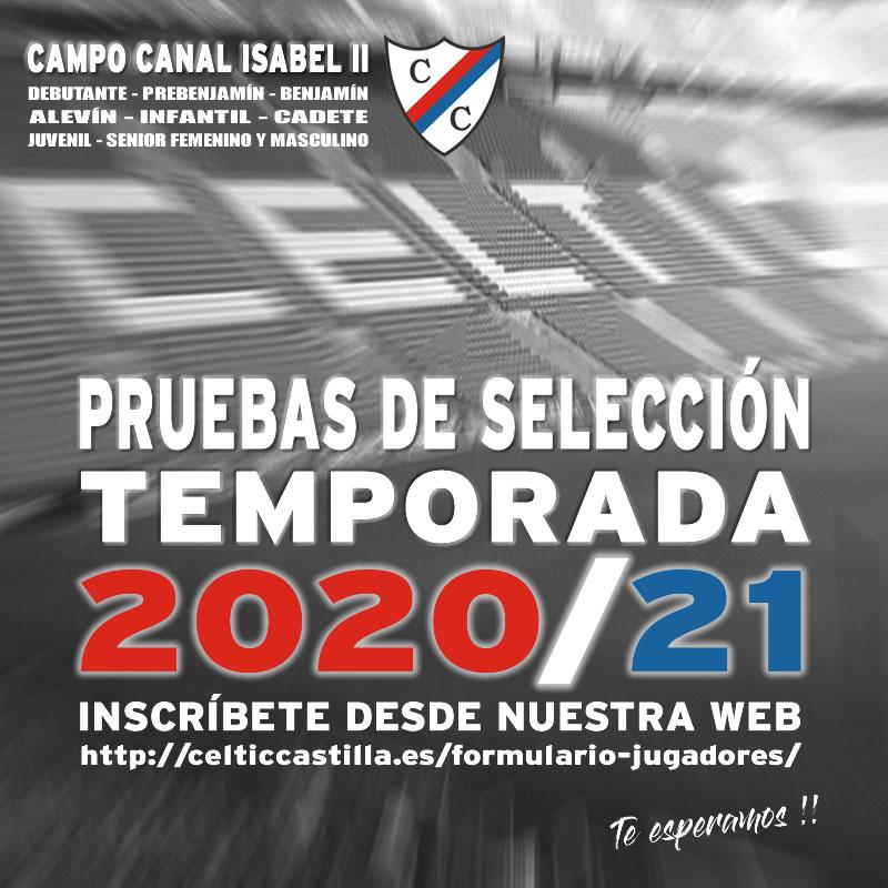 Pruebas de selección Temporada 2020/21